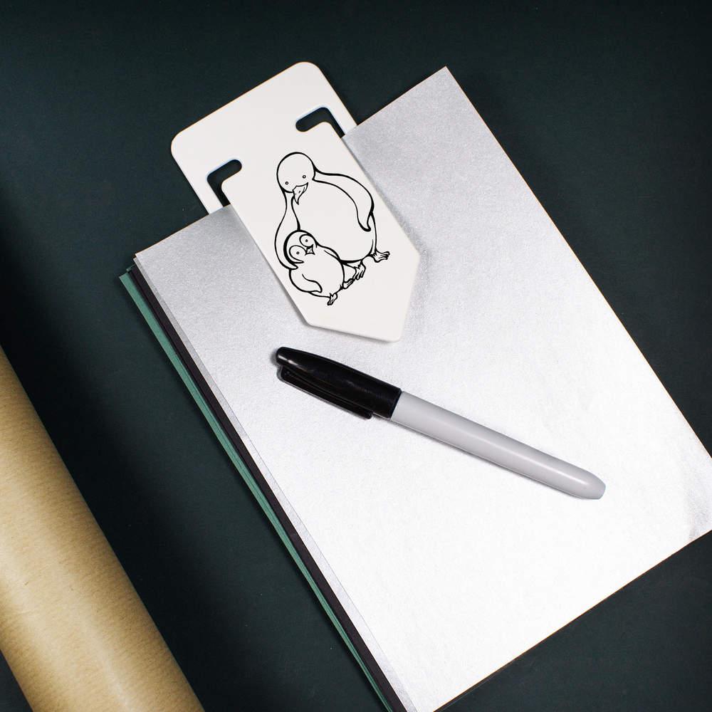 CC000562 /'Penguins/' Plastic Paper Clip