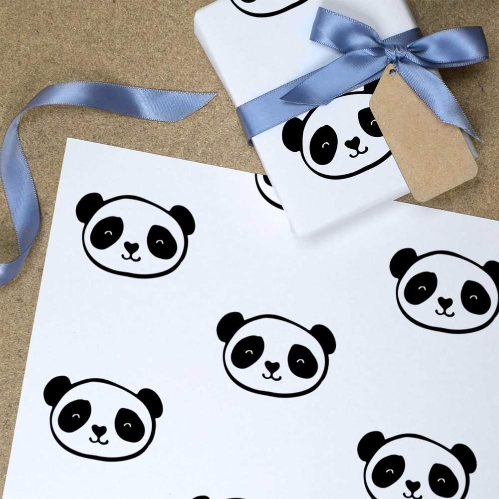 Wrapping Paper GI017125 /'Panda Head/' Gift Wrap