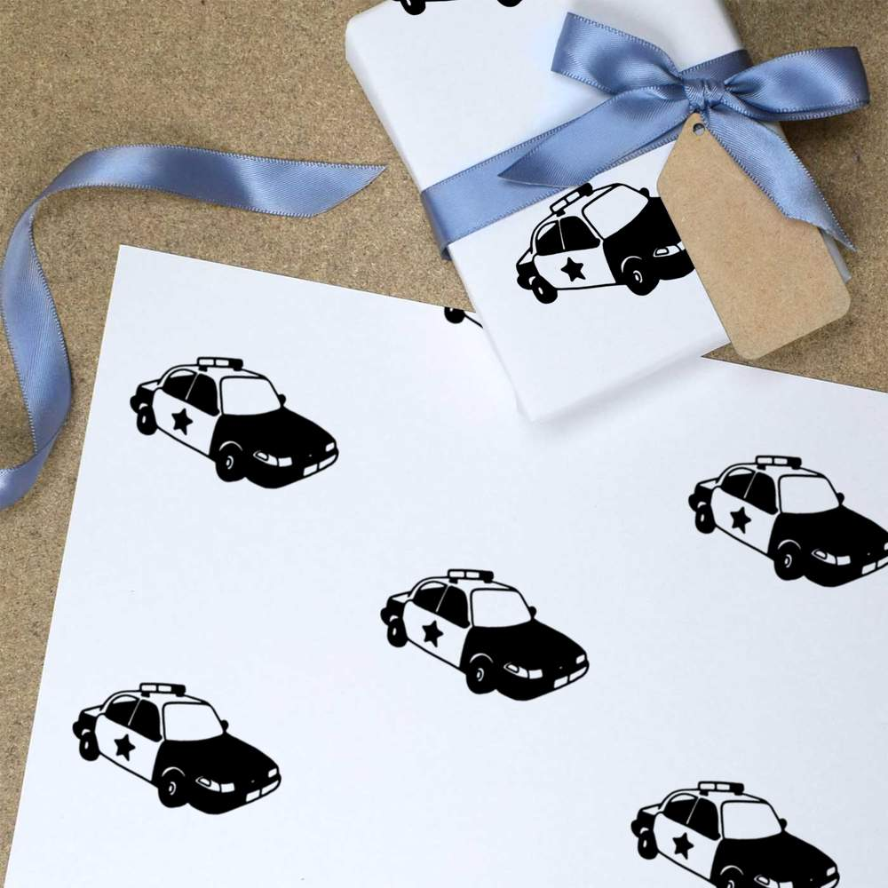 Wrapping Paper /'Police Car/' Gift Wrap GI018362