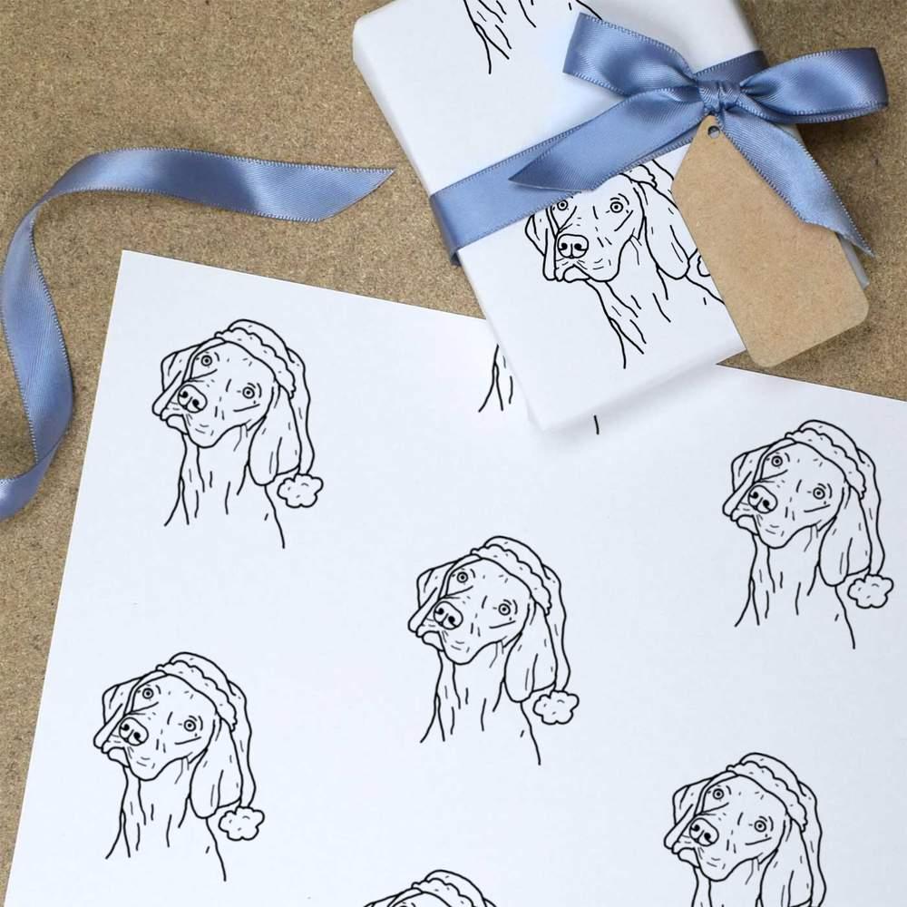 Wrapping Paper /'Christmas Vizsla Dog/' Gift Wrap GI025270
