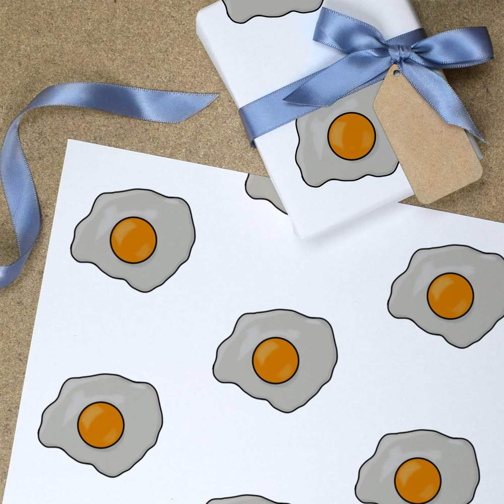 GI026882 Wrapping Paper /'Fried Egg/' Gift Wrap