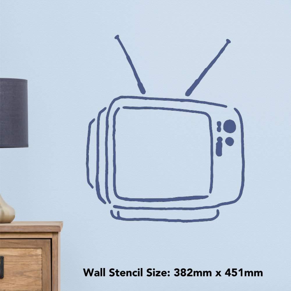 """WS018201 Sont tro TV /""""mur POCHOIRS//GABARITS"""