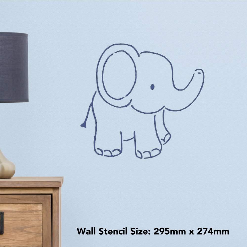 /'Cute Elephant/' Wall Stencils WS019308 Templates