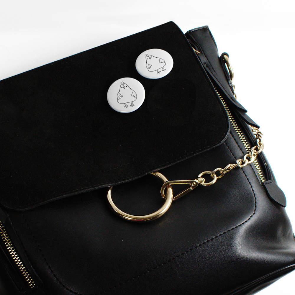 039-Poulet-mignon-039-boutons-de-badge-BB020019 miniature 6