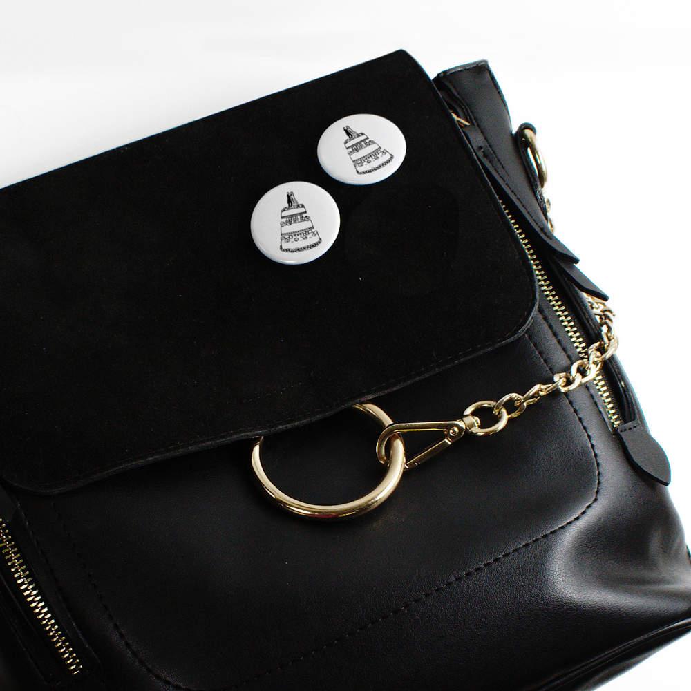039-Gateau-de-Mariage-039-boutons-de-badge-BB020052 miniature 8