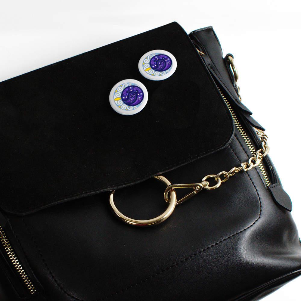 thumbnail 6 - 'Celtic Spiral Moon' Button Pin Badges (BB023624)