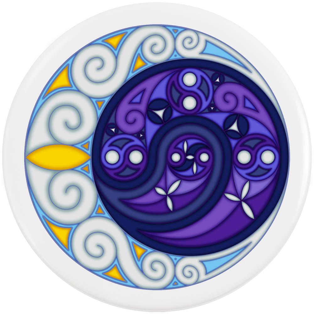 thumbnail 3 - 'Celtic Spiral Moon' Button Pin Badges (BB023624)