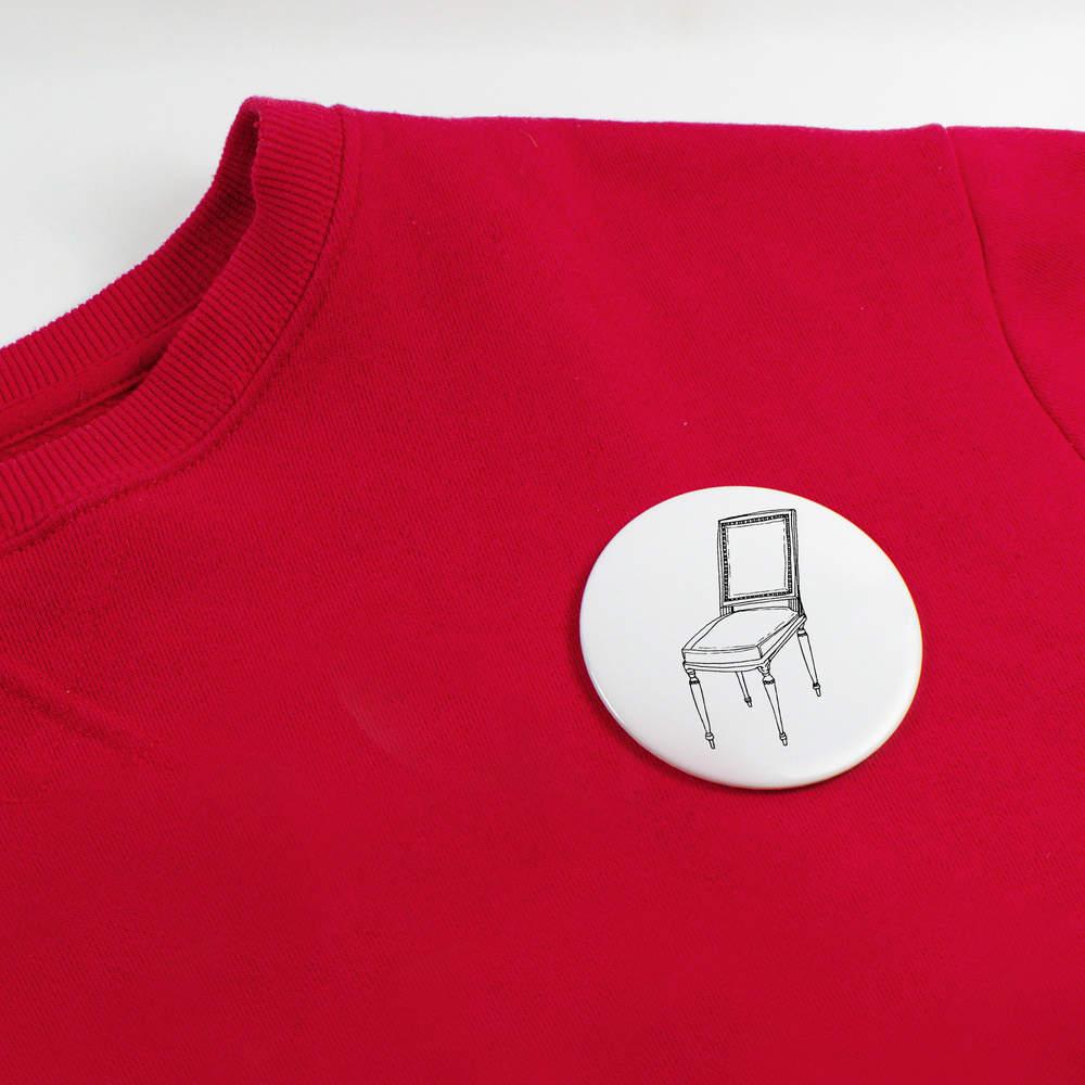 039-Vintage-Chair-039-Button-Pin-Badges-BB010324 miniatuur 4