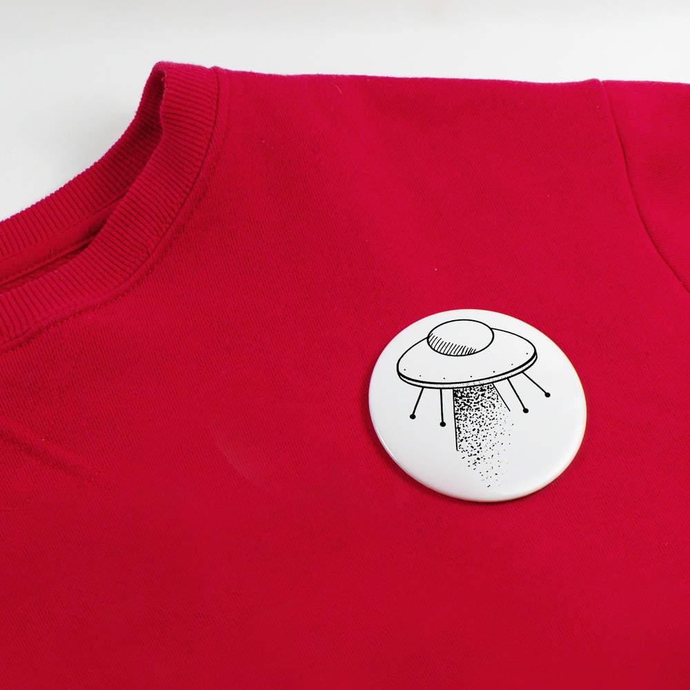 039-Extraterrestre-Vaisseau-039-boutons-de-badge-BB019932 miniature 4