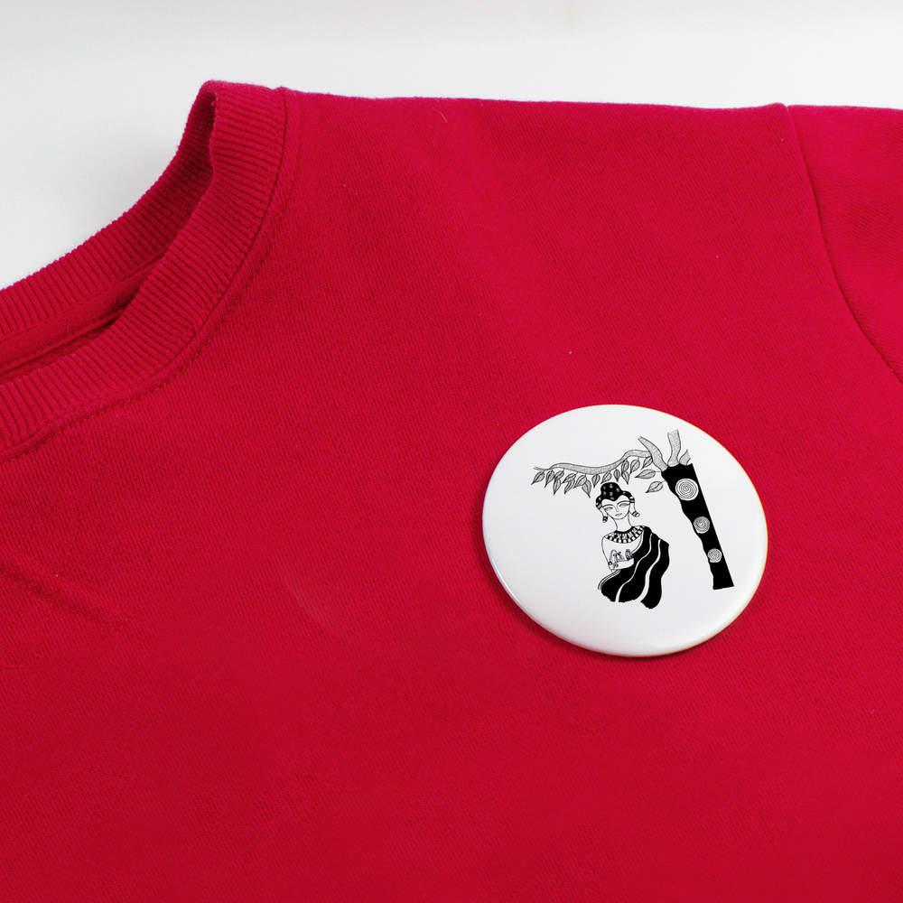 039-Mediter-Femme-039-boutons-de-badge-BB019999 miniature 4