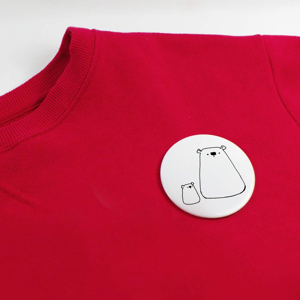 039-Ours-polaire-et-louveteau-039-boutons-de-badge-BB020023 miniature 4