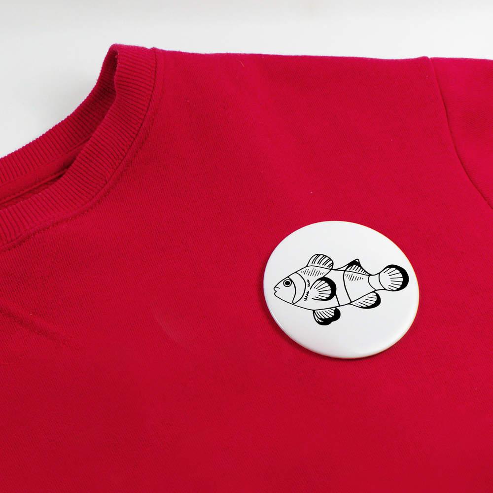 039-Poisson-clown-039-boutons-de-badge-BB020037 miniature 4