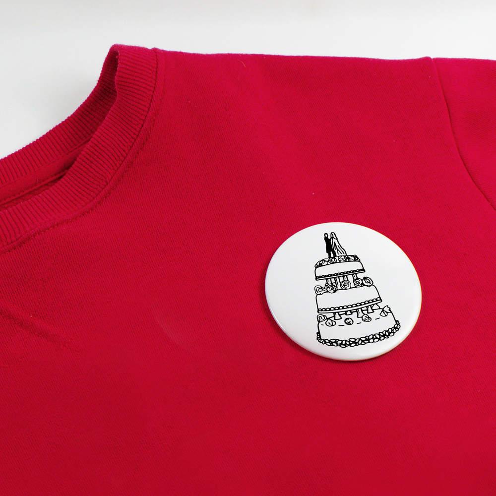 039-Gateau-de-Mariage-039-boutons-de-badge-BB020052 miniature 4