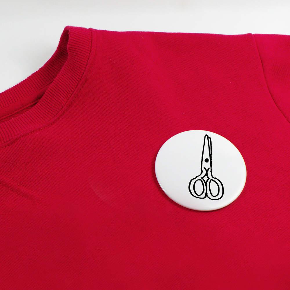 039-Ciseaux-039-boutons-de-badge-BB020121 miniature 4