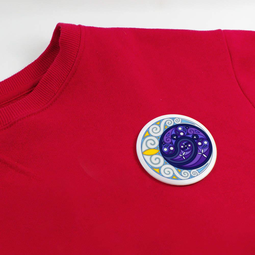 thumbnail 8 - 'Celtic Spiral Moon' Button Pin Badges (BB023624)