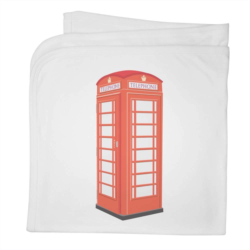 'Telephone Box' Cotton Baby Blanket / Shawl