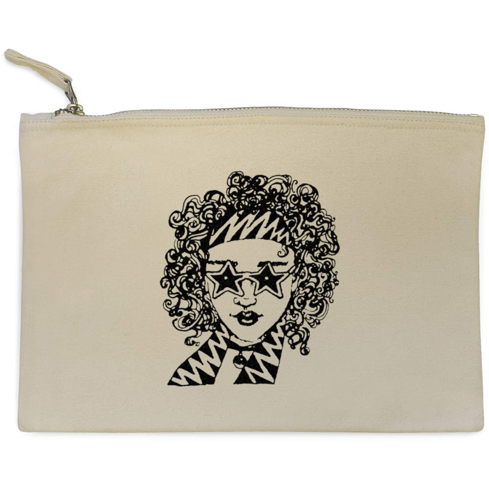 '70s Girl' Canvas Clutch Bag / Accessory Case (CL00003976)