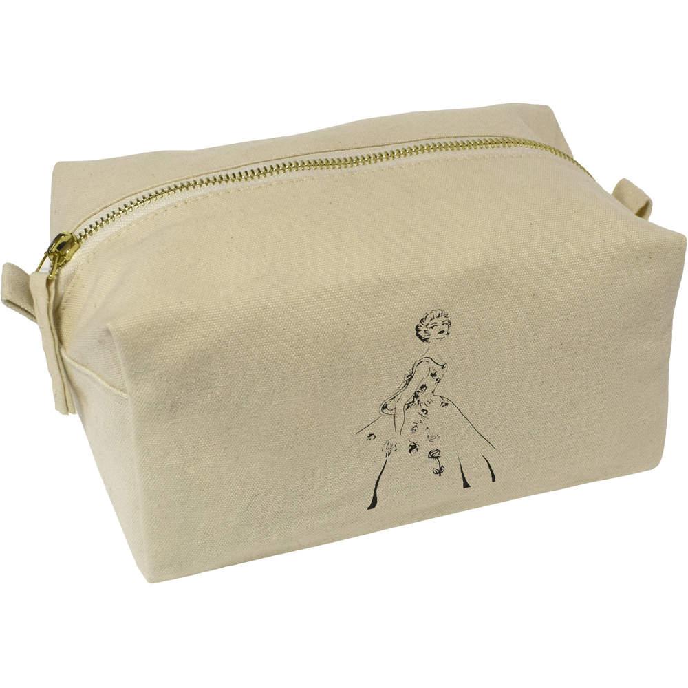 '1940s Vintage Ballgown' Canvas Wash Bag / Makeup Case (CS00001988)