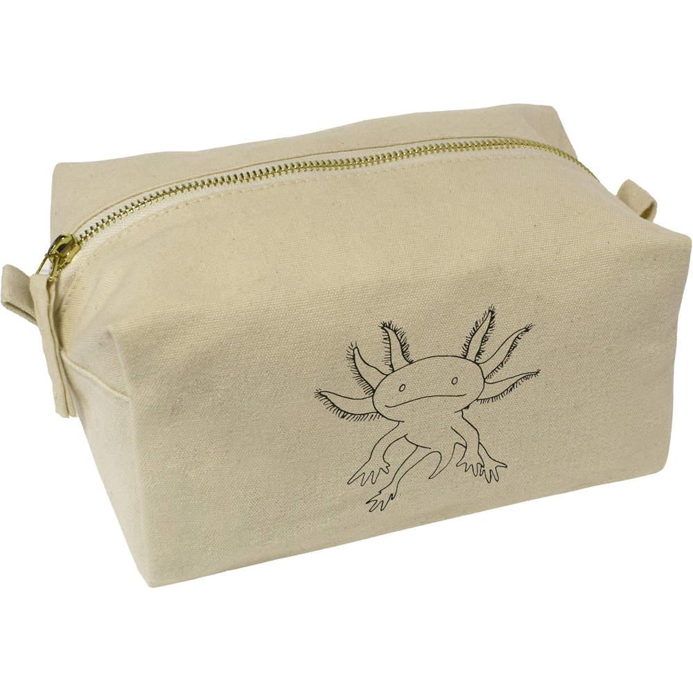 'Axolotl' Canvas Wash Bag / Makeup Case (CS00008254)