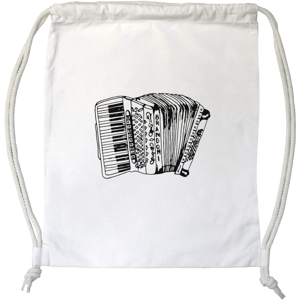 'Accordian Instrument' Drawstring Gym Bag / Sack (DB00010047)