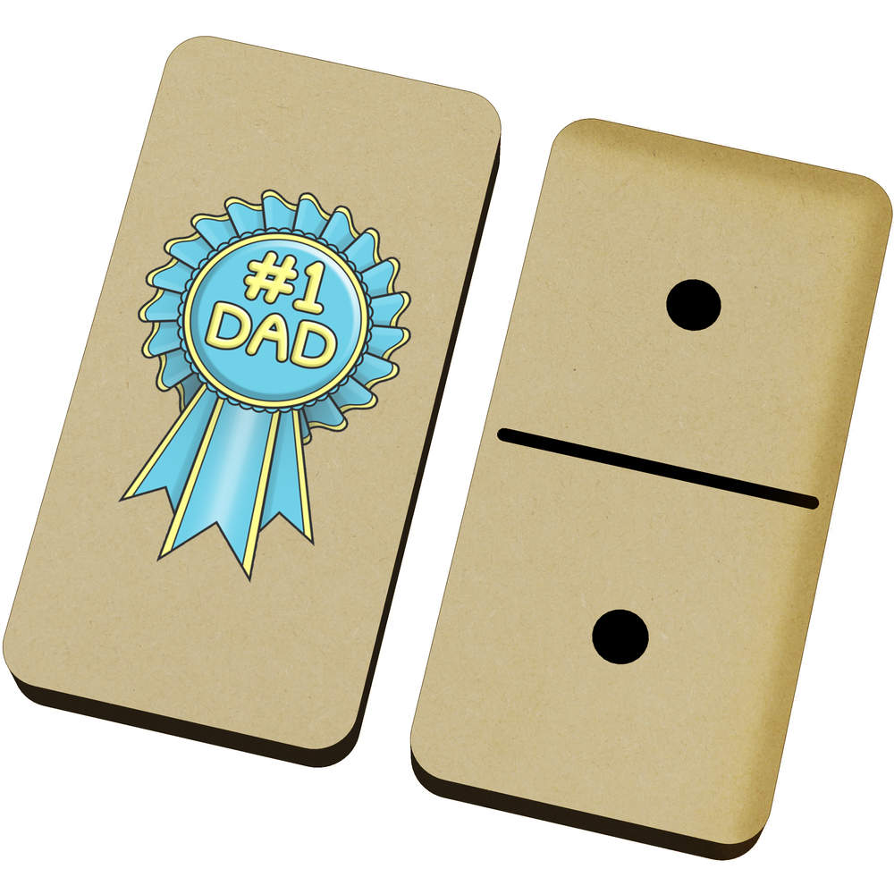 '#1 Dad Rosette' Domino Set & Box (DM00018154)