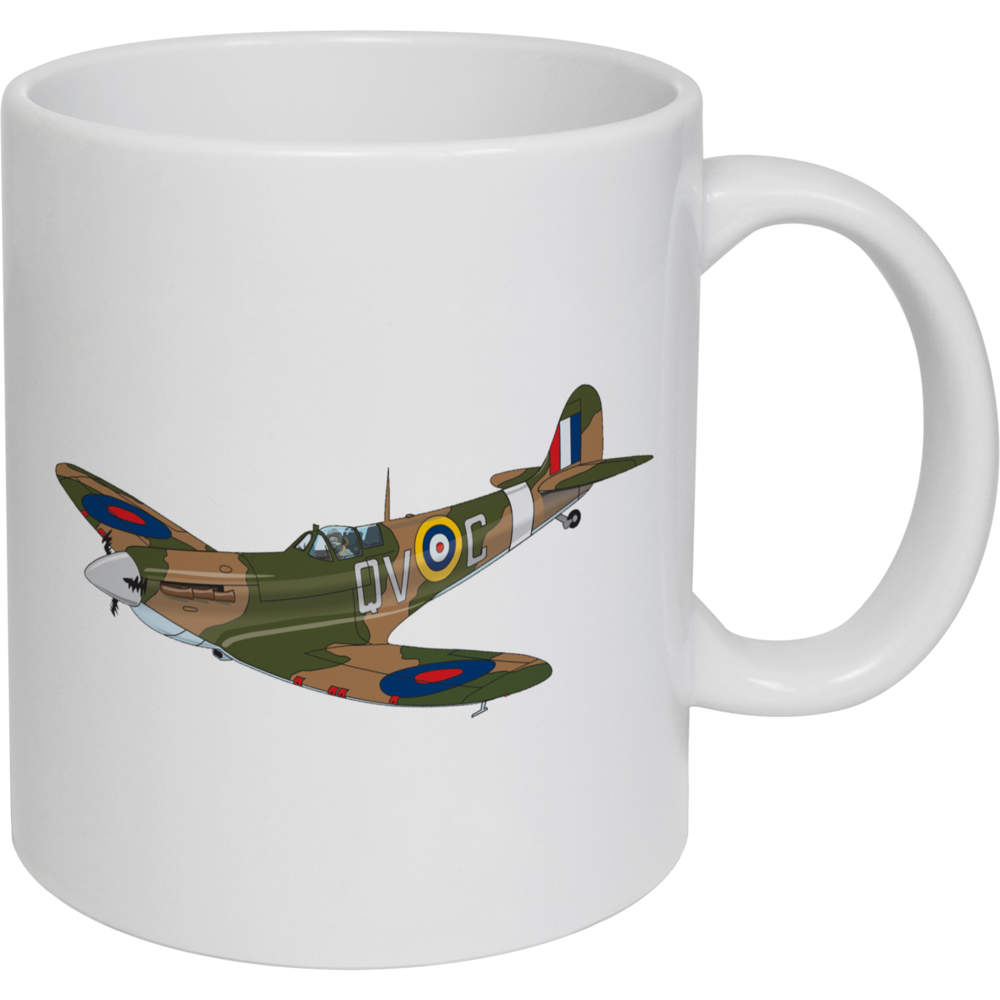 'Spitfire Plane' Ceramic Mug / Travel Cup  (MG020386)
