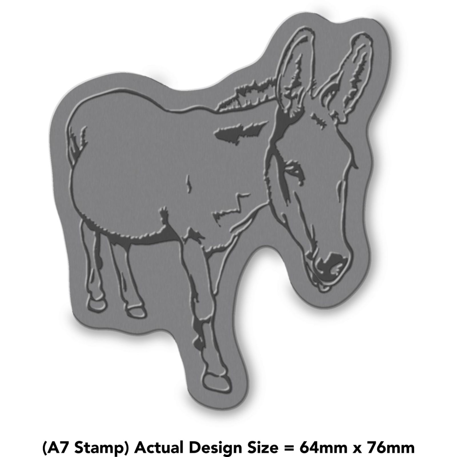 A8 Friendly Donkey Unmounted Rubber Stamp RS00022747