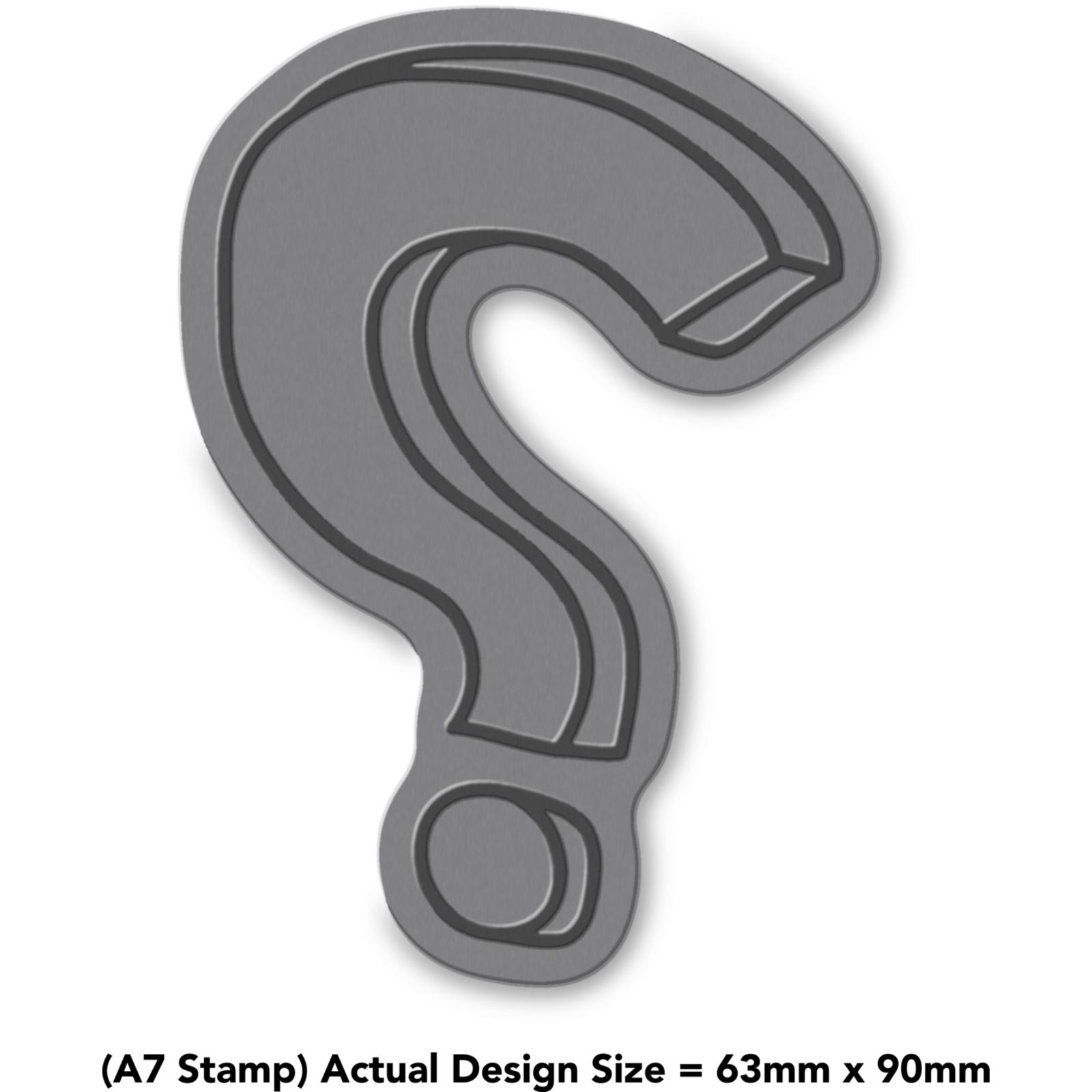 'Question Mark' Rubber Stamp (RS018966) | eBay