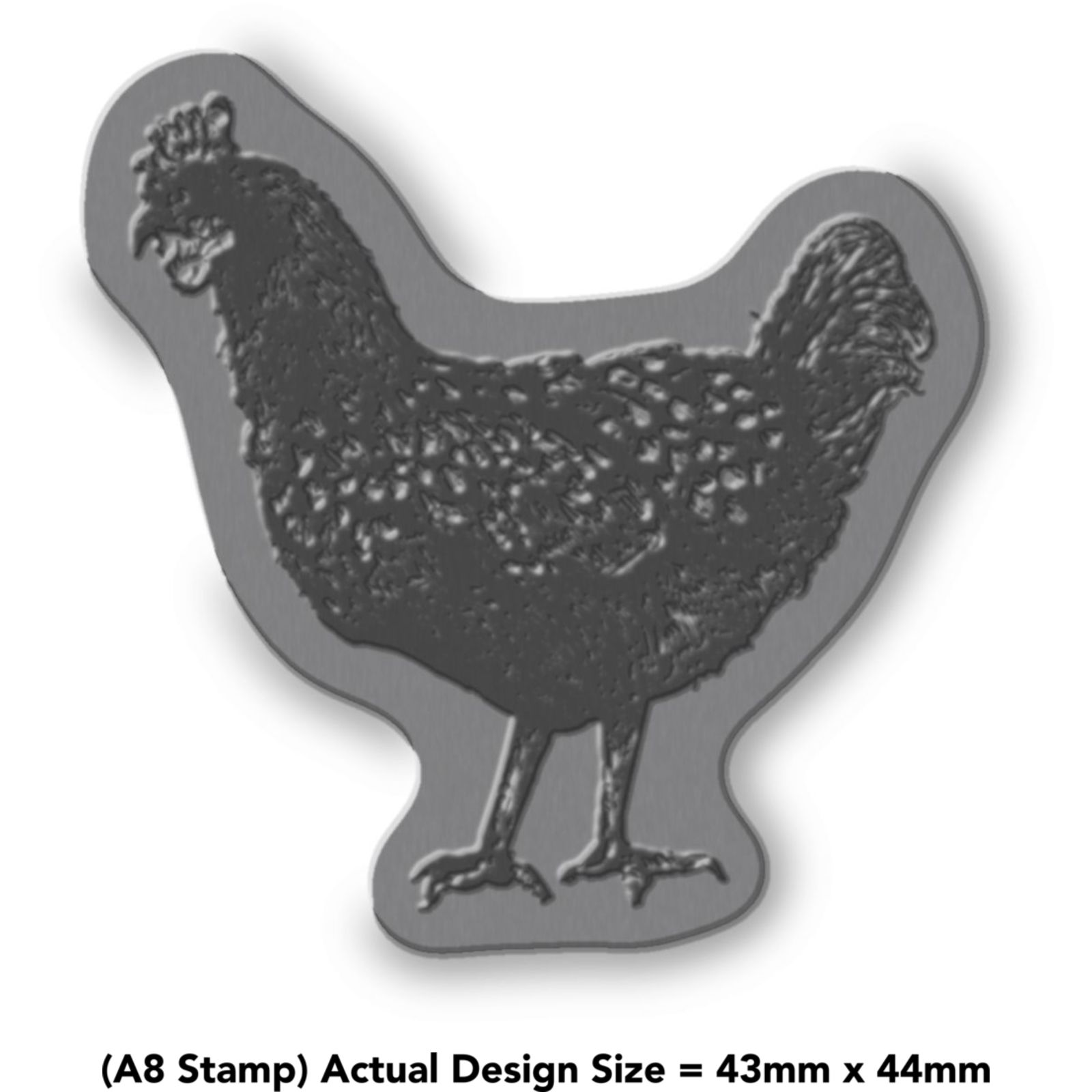 A8 /'Standing Rat/' Unmounted Rubber Stamp RS00030078
