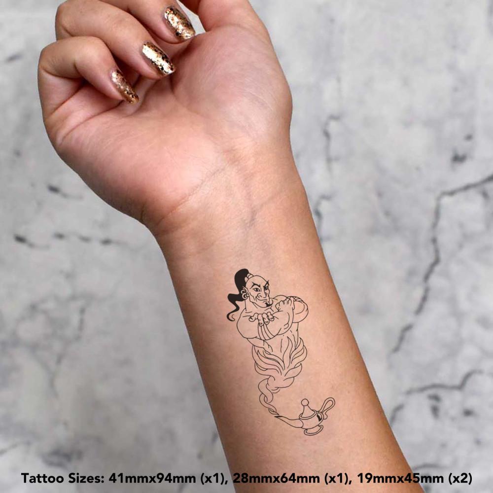 039-Genie-Of-The-Lamp-039-Temporary-Tattoos-TO004137 miniatuur 4