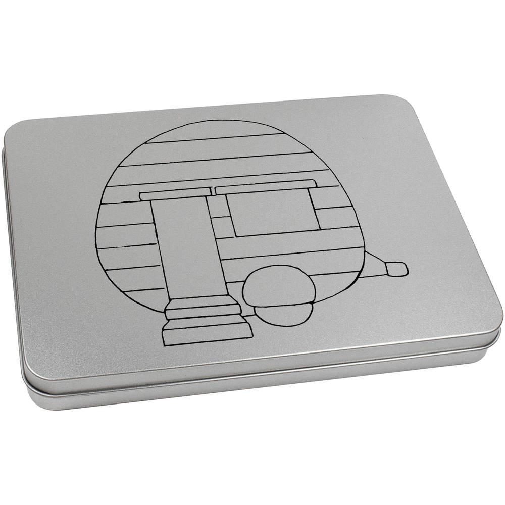 Storage Box TT025806 /'Caravan/' Metal Hinged Tin
