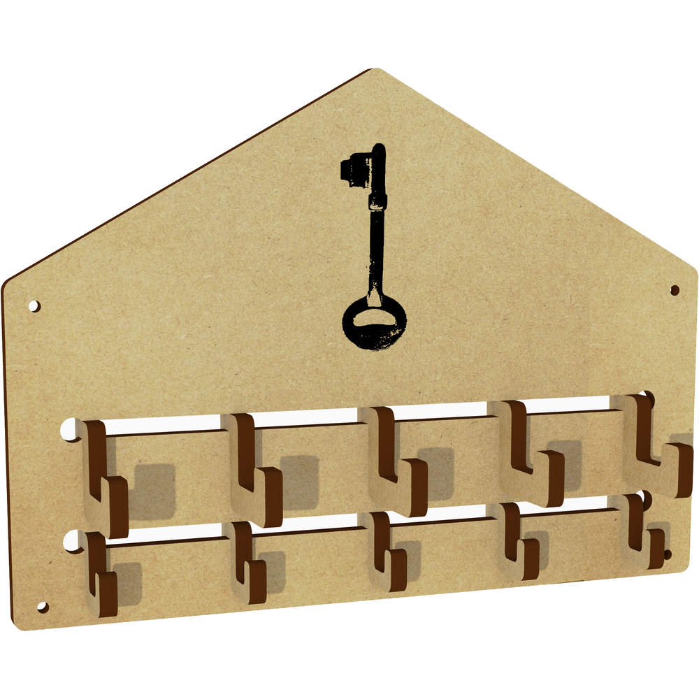 'Long Key' Wall Mounted Coat Hooks / Rack (WH00023298)