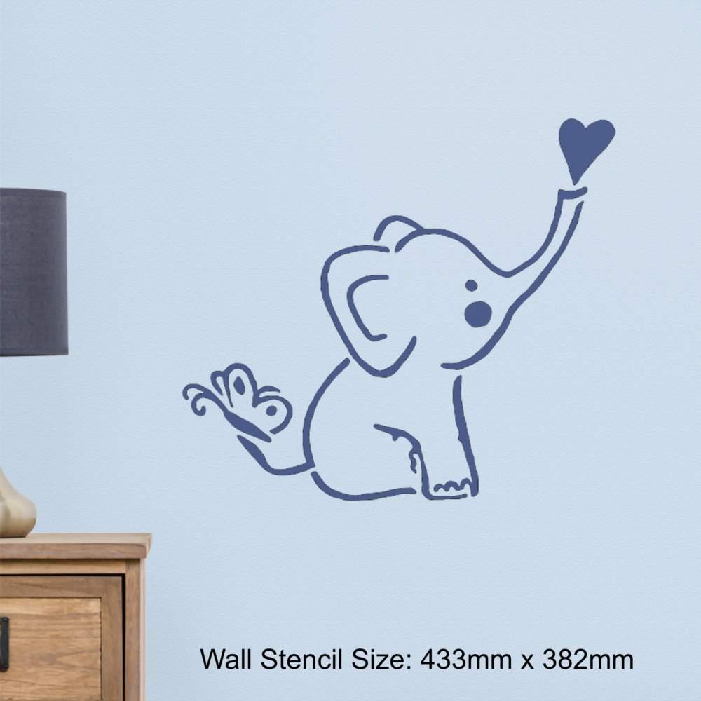 'baby elefant' wandschablonen  vorlagen ws019533  ebay